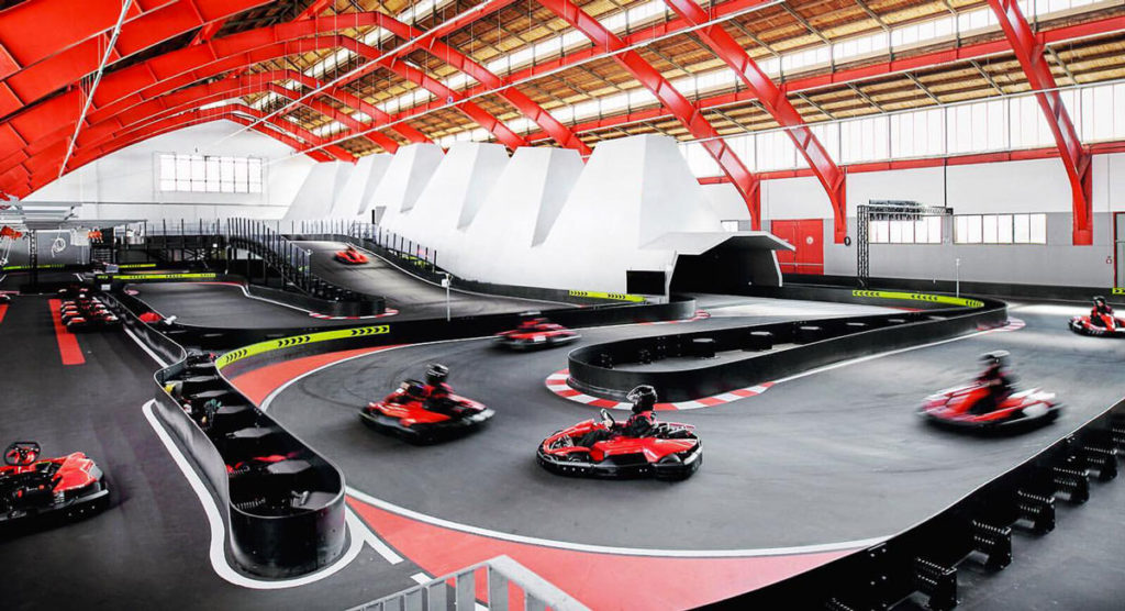 circuito go kart MAX Dome Linz Austria