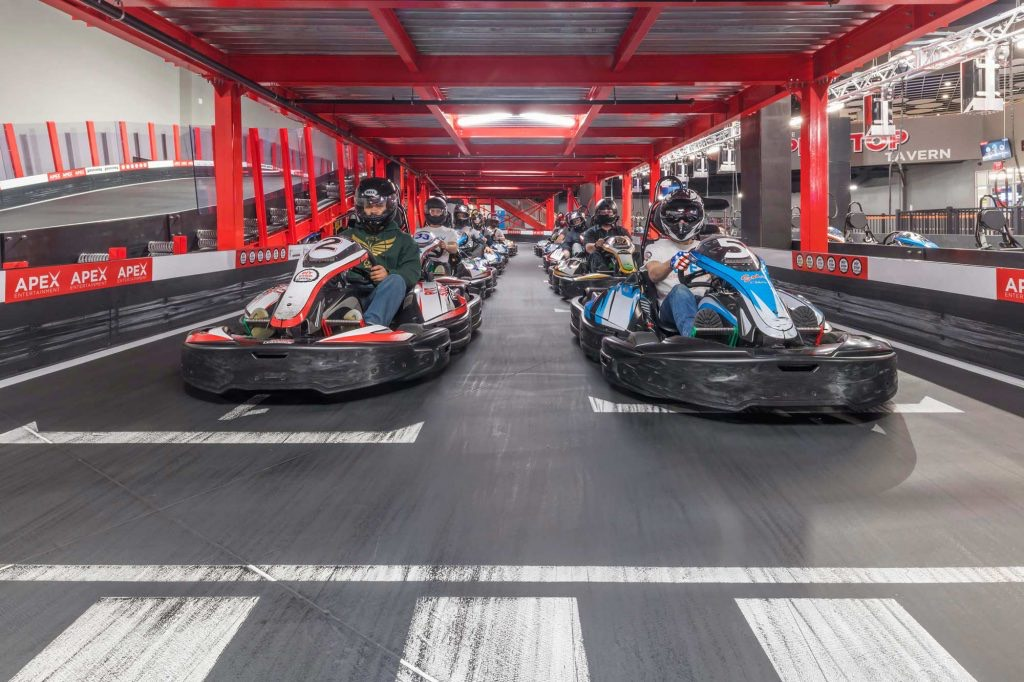 Kart track indoor Apex Entertainment Marlborough United States