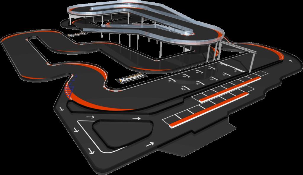Modello 3d kartodromo Xtrem Center Valence Valenza Francia